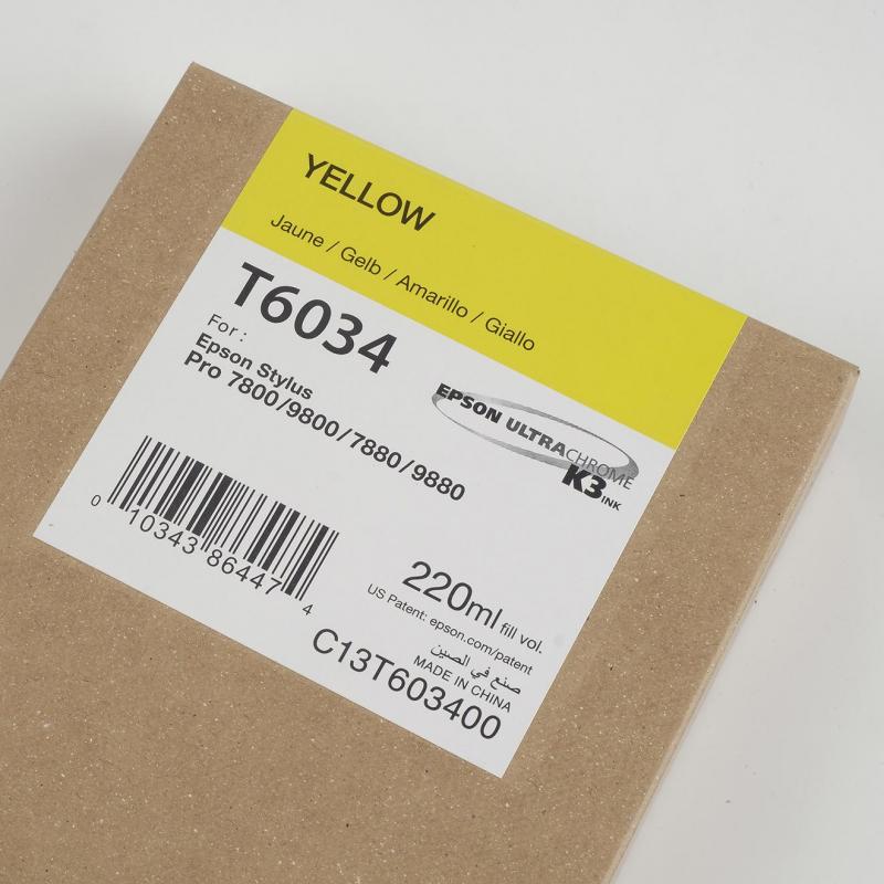 Ink Cartucce Originali Epson Inchiostri Tanica UltraChrome® K3   Giallo Stylus pro 7800, 7880, 9800, 9880