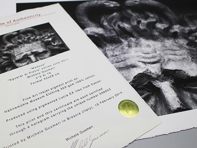 Carta Hahnemühle Carta Fine Art Certificato di Autenticità Fine Art  A4