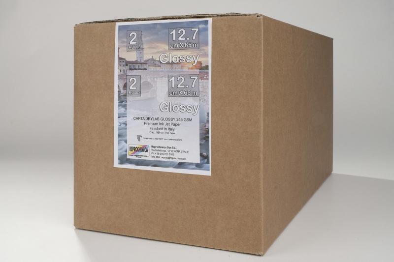 Carta Reprochimica Carta DryLab Kiosk Roll GLOSSY 260 g. 12,7 cm