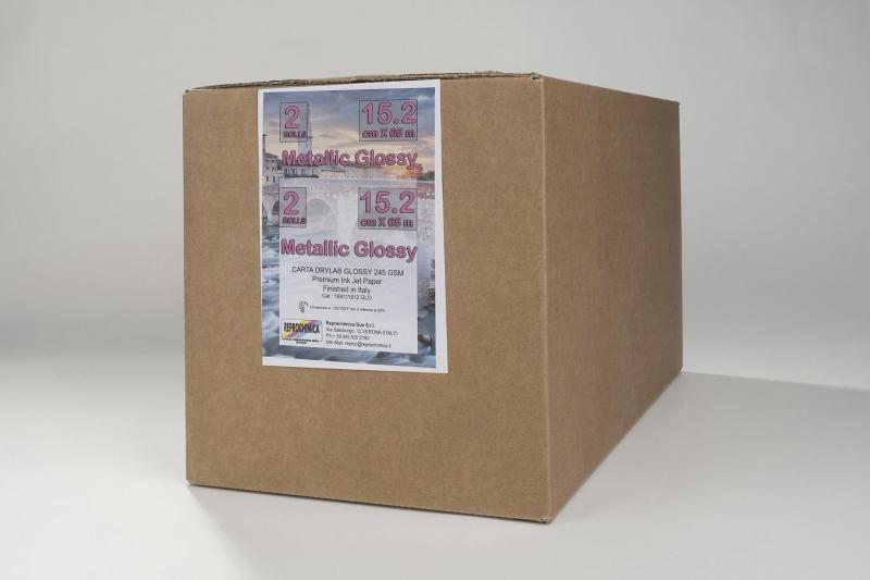 Carta Reprochimica Carta DryLab Photo Inkjet METALLIC GLOSSY 245 g. 6
