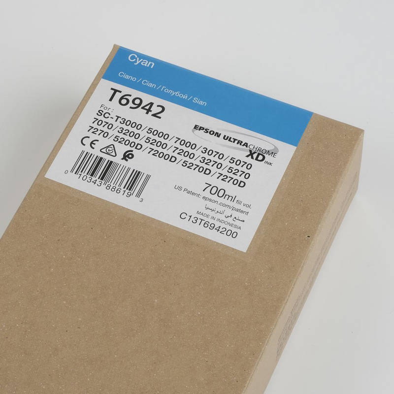 Ink Cartucce Originali Epson Inchiostri Tanica UltraChrome® XD   Cyan Surecolor SC-T3000, T5000, T7000, T3200, T5200, T7206
