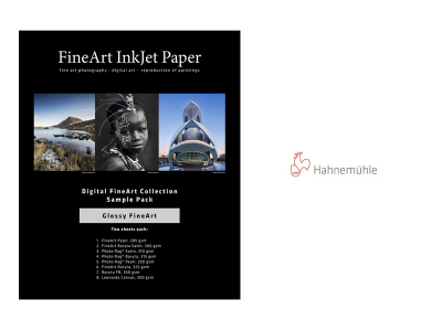 Carta Hahnemühle Carta Fine Art Fine Art DFA Sample Pack Glossy FineArt  A3+